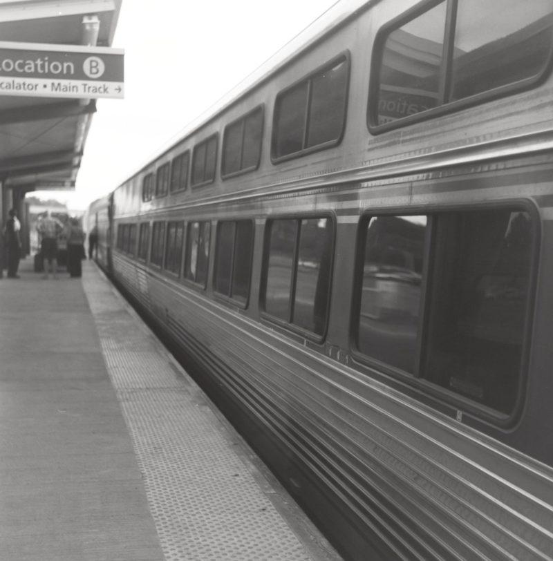NY travel photographer takes the amtrak train to Boston with Ansco Titan Rangefinder Camera