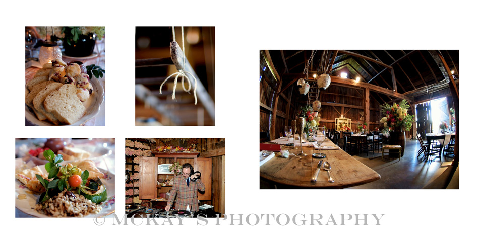 Sustainable wedding album for Hurd Orchards barn wedding in Western NY by Rochester wedding photographer Heather McKay's Photography