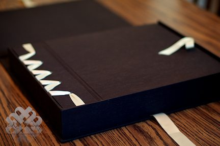 handmade sustainable wedding album