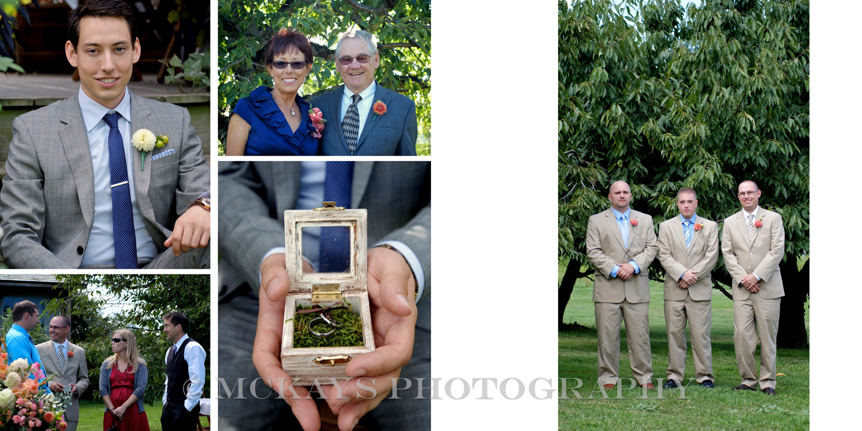 Hurd Orchards wedding photo album