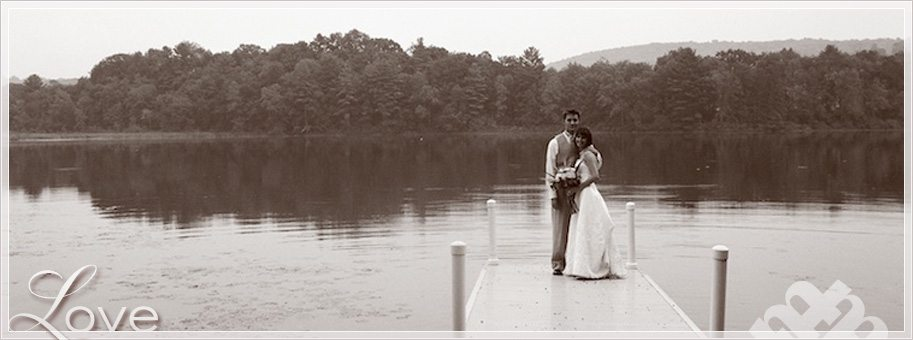Central NY rustic lake Wedding by film photographer