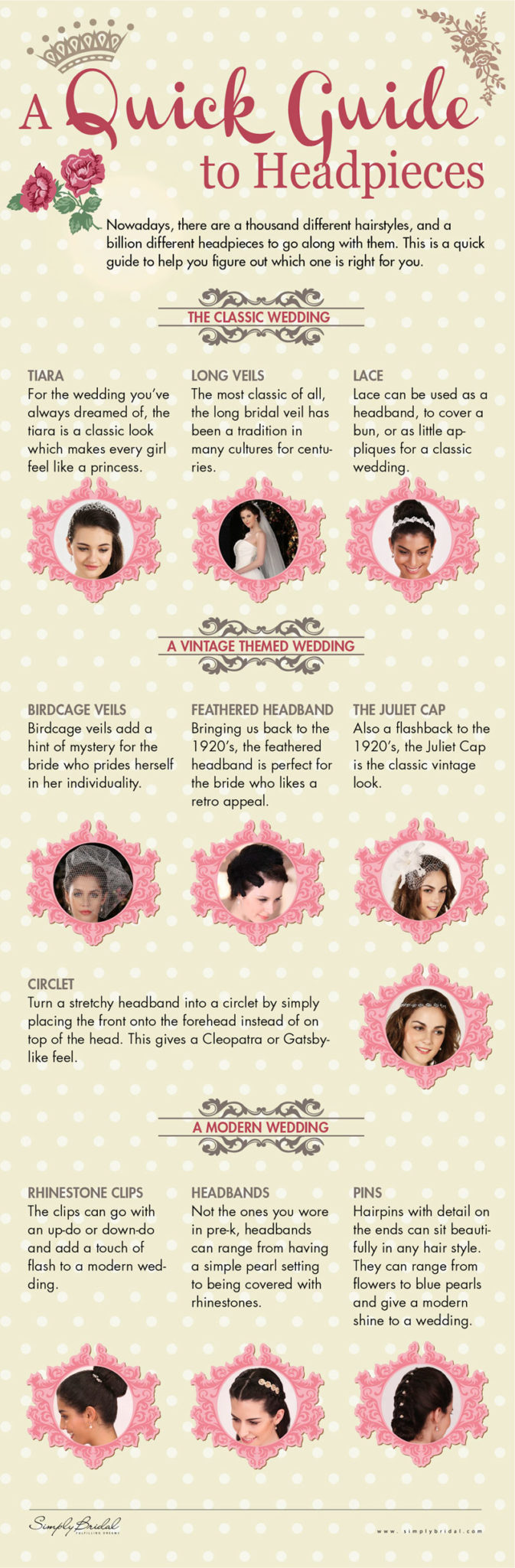 how to pick the perfect wedding headpiece for your wedding