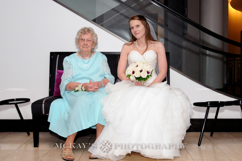 Bride and her grandma on her wedding day