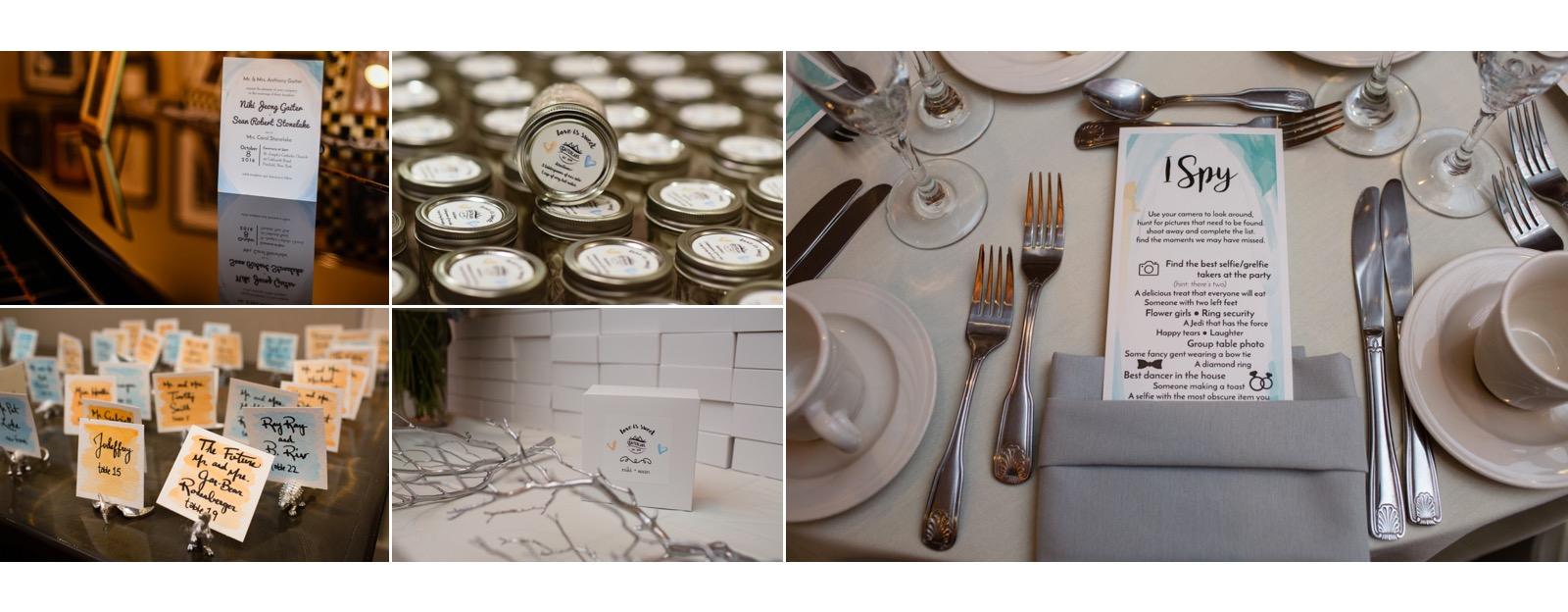 Niki Gaiter the graphic designer created custom wedding stationary