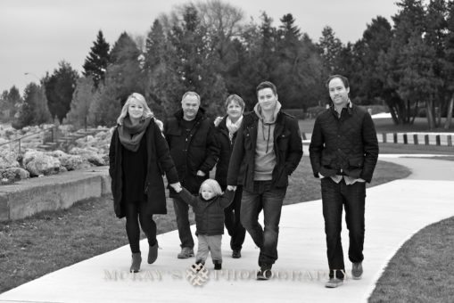 The Duffett family Christmas vacation photos in Canada for by traveling lifestyle photographer Heather McKay on Lake Heron.