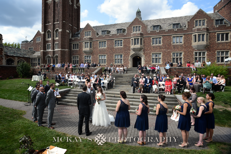 Rochester wedding photography at Colgate Divinity School with Lance & Jessica by McKay's Photography