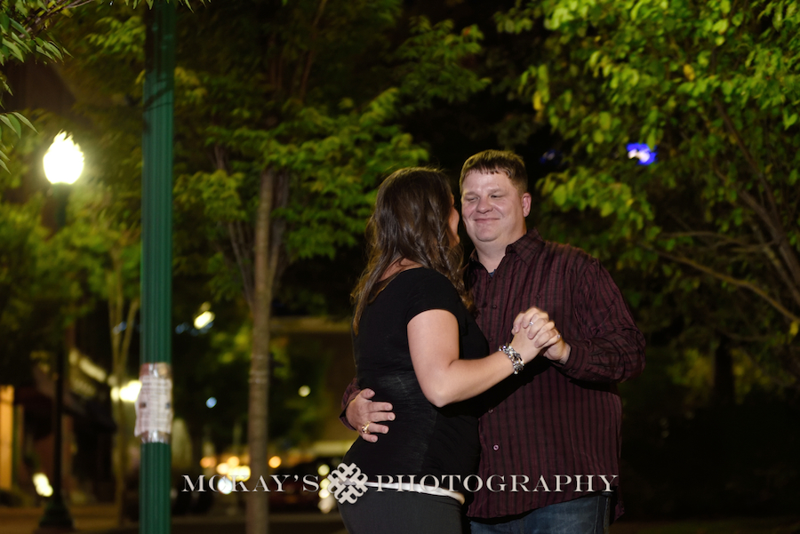 Auburn Engagement Photos at Prison City Brewery