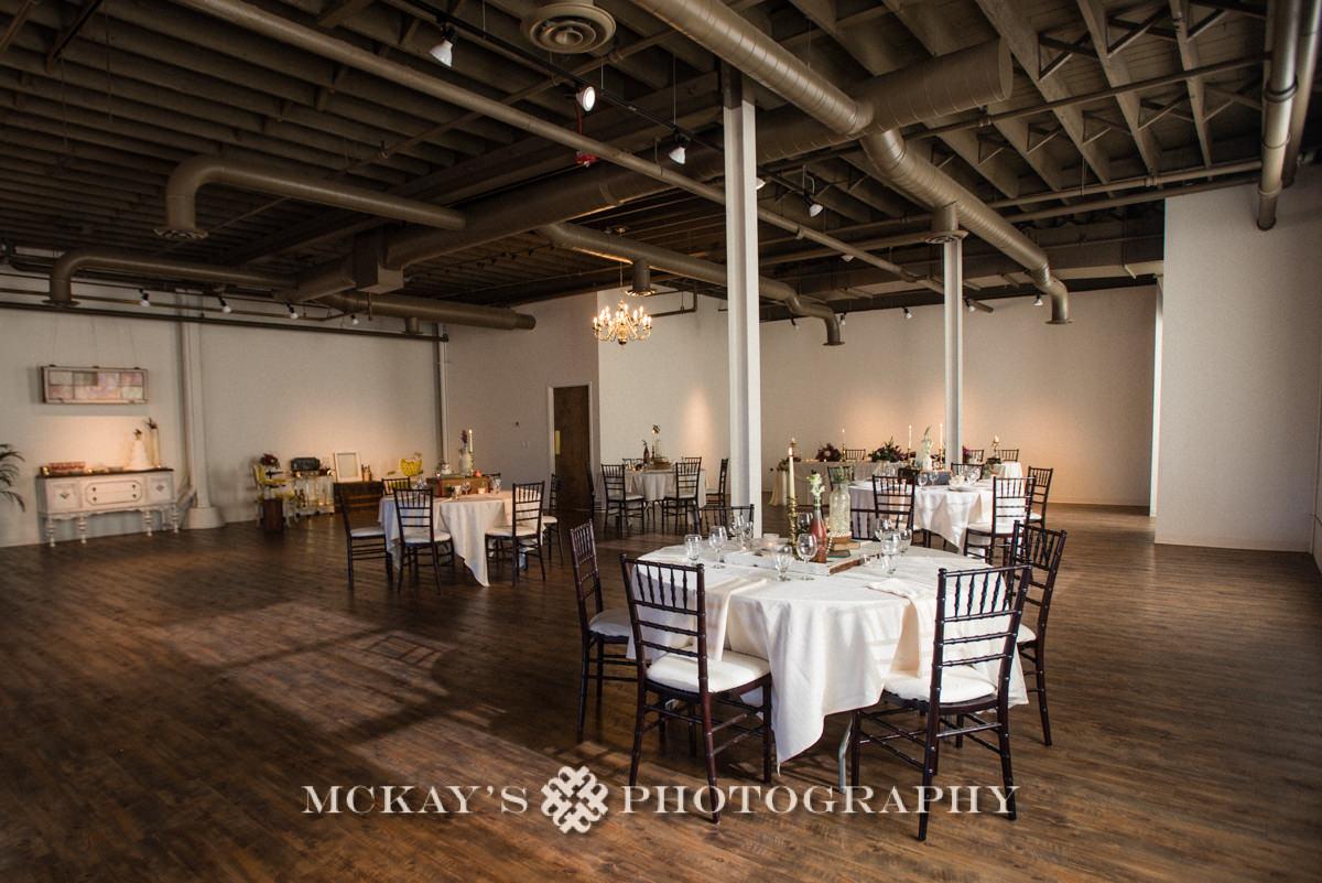 modern vintage wedding venue Arbor Loft Rochester
