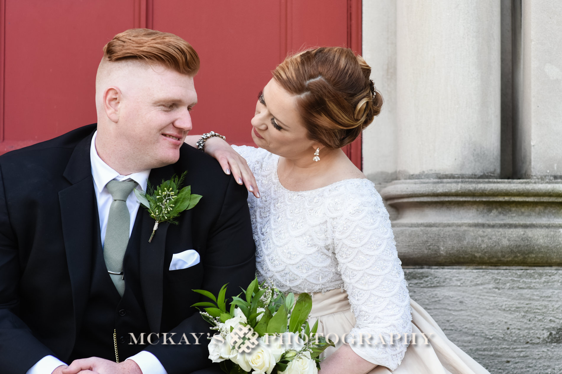 Karpeles Manuscript Library wedding photos in downtown Buffalo by McKay's Photography