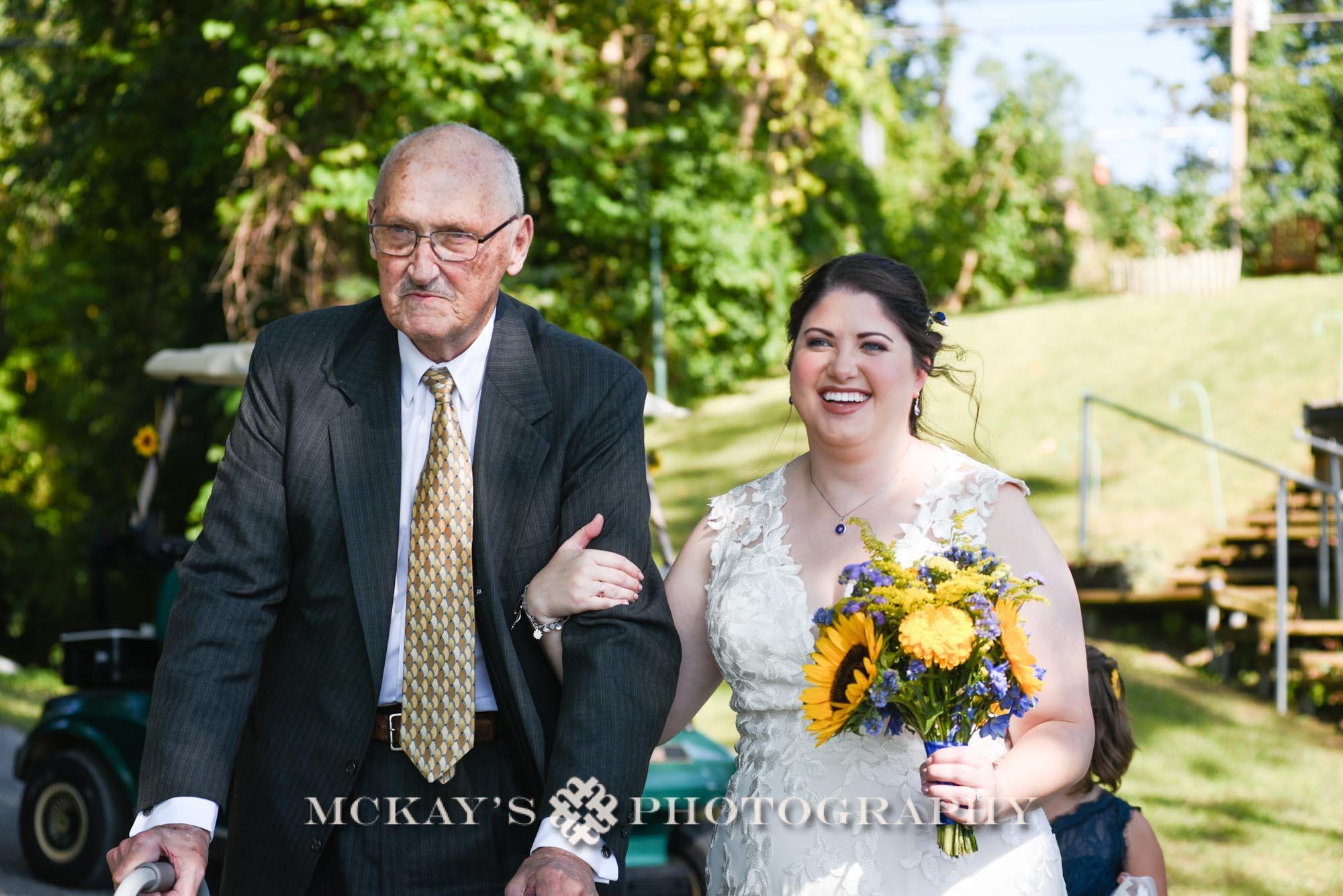 wedding photos on Keuka Lake